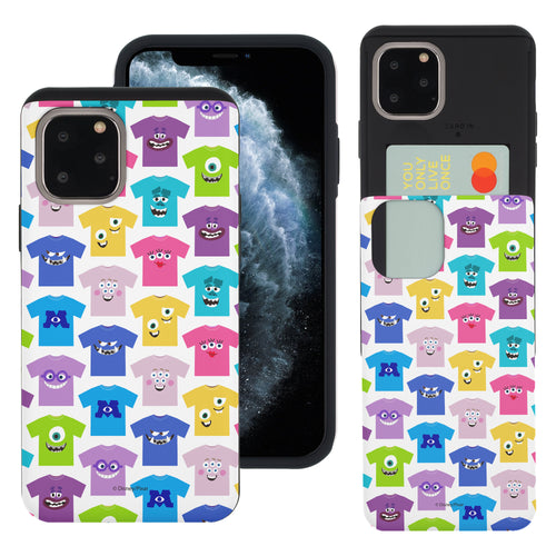 iPhone 11 Pro Max Case (6.5inch) Monsters University inc Slim Slider Card Slot Dual Layer Holder Bumper Cover - Pattern Shirts