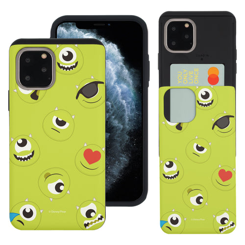iPhone 11 Pro Max Case (6.5inch) Monsters University inc Slim Slider Card Slot Dual Layer Holder Bumper Cover - Pattern Mike