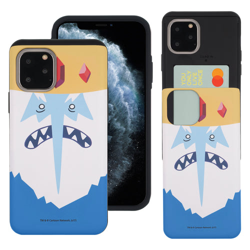 iPhone 11 Pro Max Case (6.5inch) Adventure Time Slim Slider Card Slot Dual Layer Holder Bumper Cover - Ice King