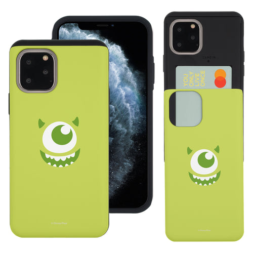 iPhone 11 Case (6.1inch) Monsters University inc Slim Slider Card Slot Dual Layer Holder Bumper Cover - Face Mike