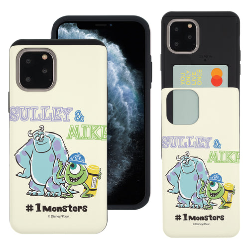 iPhone 11 Case (6.1inch) Monsters University inc Slim Slider Card Slot Dual Layer Holder Bumper Cover - Cartoon 1 Monsters