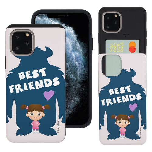 iPhone 11 Pro Max Case (6.5inch) Monsters University inc Slim Slider Card Slot Dual Layer Holder Bumper Cover - Simple Boo