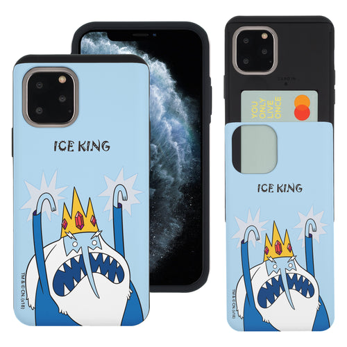 iPhone 11 Pro Max Case (6.5inch) Adventure Time Slim Slider Card Slot Dual Layer Holder Bumper Cover - Lovely Ice King