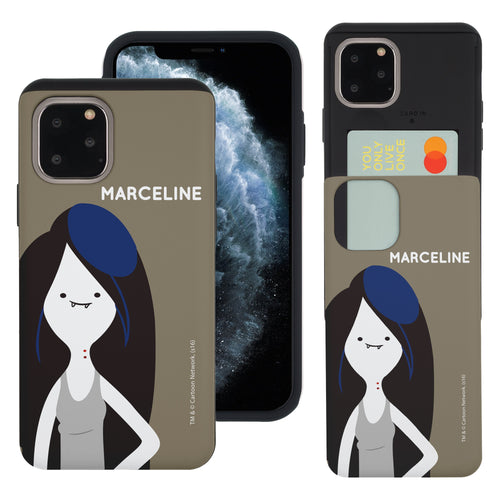 iPhone 11 Pro Max Case (6.5inch) Adventure Time Slim Slider Card Slot Dual Layer Holder Bumper Cover - Cuty Marceline