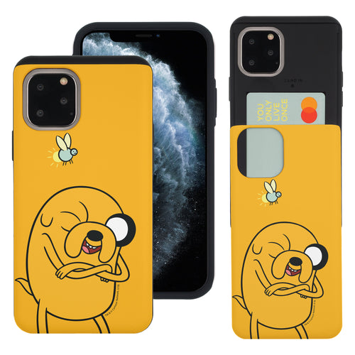 iPhone 11 Pro Max Case (6.5inch) Adventure Time Slim Slider Card Slot Dual Layer Holder Bumper Cover - Vivid Jake