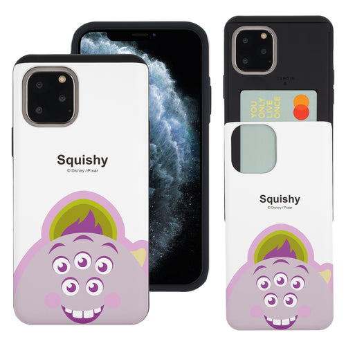 iPhone 11 Case (6.1inch) Monsters University inc Slim Slider Card Slot Dual Layer Holder Bumper Cover - Big Squishy