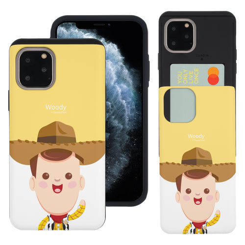 iPhone 11 Pro Max Case (6.5inch) Toy Story Slim Slider Card Slot Dual Layer Holder Bumper Cover - Baby Woody