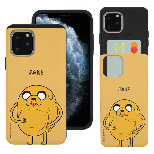 iPhone 11 Pro Max Case (6.5inch) Adventure Time Slim Slider Card Slot Dual Layer Holder Bumper Cover - Lovely Jake