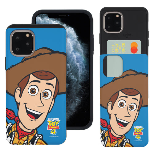 iPhone 11 Pro Max Case (6.5inch) Toy Story Slim Slider Card Slot Dual Layer Holder Bumper Cover - Wide Woody