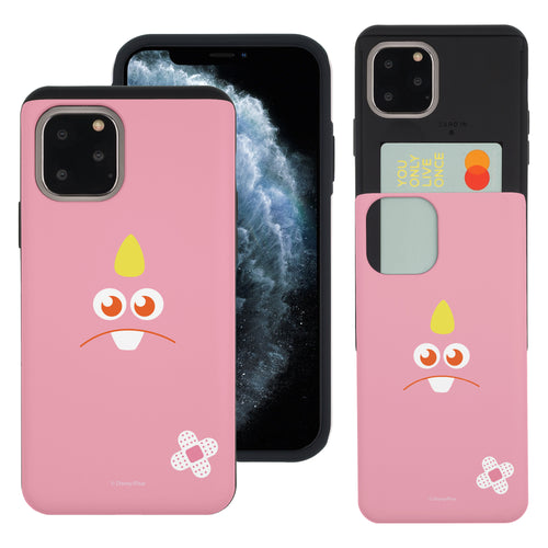 iPhone 11 Pro Max Case (6.5inch) Monsters University inc Slim Slider Card Slot Dual Layer Holder Bumper Cover - Face George Hairless