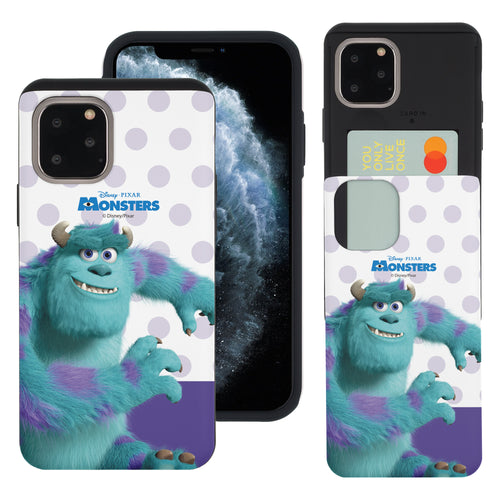 iPhone 11 Pro Max Case (6.5inch) Monsters University inc Slim Slider Card Slot Dual Layer Holder Bumper Cover - Movie Sulley