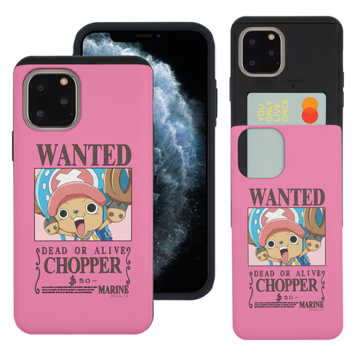 iPhone 11 Case (6.1inch) ONE PIECE Slim Slider Card Slot Dual Layer Holder Bumper Cover - Look Chopper
