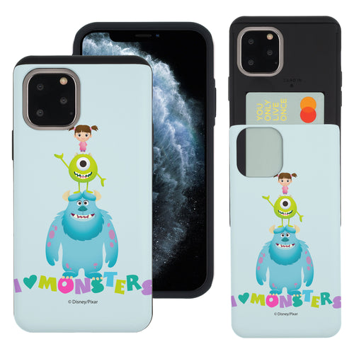 iPhone 11 Case (6.1inch) Monsters University inc Slim Slider Card Slot Dual Layer Holder Bumper Cover - Simple Together