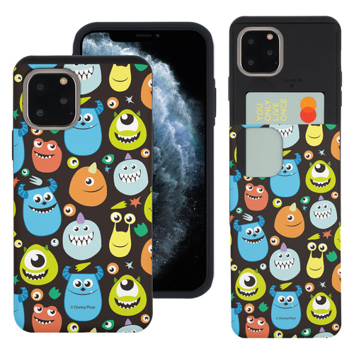 iPhone 11 Case (6.1inch) Monsters University inc Slim Slider Card Slot Dual Layer Holder Bumper Cover - Icon Monsters