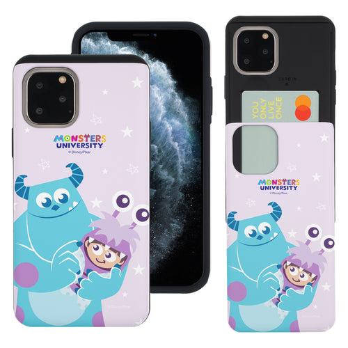 iPhone 11 Case (6.1inch) Monsters University inc Slim Slider Card Slot Dual Layer Holder Bumper Cover - Full Boo