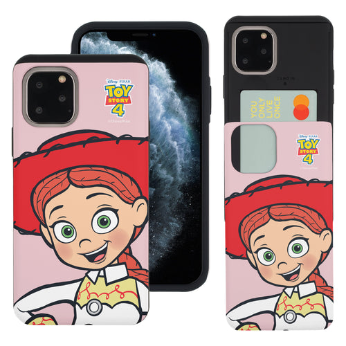 iPhone 11 Case (6.1inch) Toy Story Slim Slider Card Slot Dual Layer Holder Bumper Cover - Wide Jessie