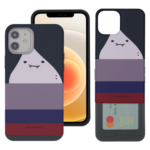 iPhone 12 Pro Max Case (6.7inch) Adventure Time Slim Slider Card Slot Dual Layer Holder Bumper Cover - Marceline Abadeer