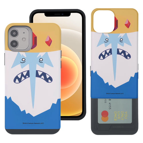 iPhone 12 Pro Max Case (6.7inch) Adventure Time Slim Slider Card Slot Dual Layer Holder Bumper Cover - Ice King