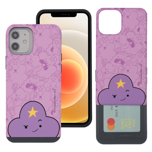 iPhone 12 mini Case (5.4inch) Adventure Time Slim Slider Card Slot Dual Layer Holder Bumper Cover - Pattern Lumpy Big