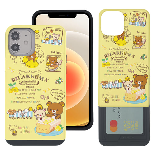iPhone 12 Pro Max Case (6.7inch) Rilakkuma Slim Slider Card Slot Dual Layer Holder Bumper Cover - Rilakkuma Cooking