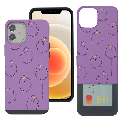 iPhone 12 mini Case (5.4inch) Adventure Time Slim Slider Card Slot Dual Layer Holder Bumper Cover - Pattern Lumpy