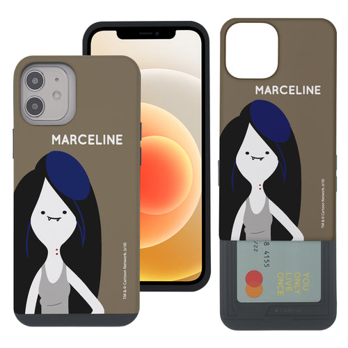 iPhone 12 mini Case (5.4inch) Adventure Time Slim Slider Card Slot Dual Layer Holder Bumper Cover - Cuty Marceline