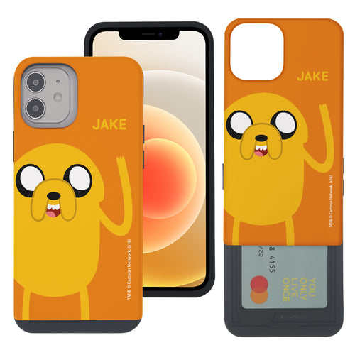 iPhone 12 Pro Max Case (6.7inch) Adventure Time Slim Slider Card Slot Dual Layer Holder Bumper Cover - Cuty Jake