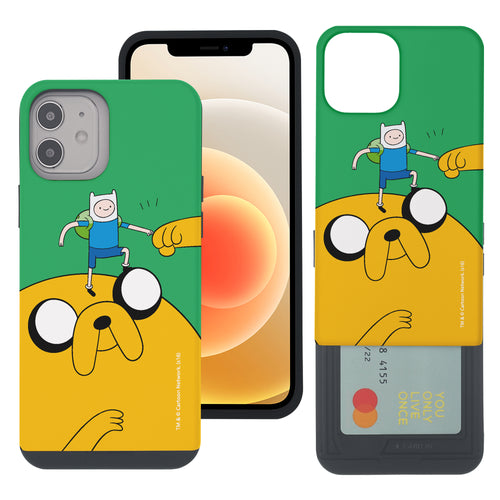 iPhone 12 Pro Max Case (6.7inch) Adventure Time Slim Slider Card Slot Dual Layer Holder Bumper Cover - Cuty Jake Big
