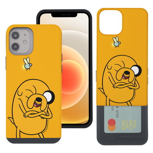 iPhone 12 mini Case (5.4inch) Adventure Time Slim Slider Card Slot Dual Layer Holder Bumper Cover - Vivid Jake