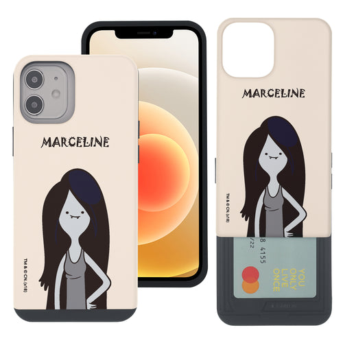 iPhone 12 mini Case (5.4inch) Adventure Time Slim Slider Card Slot Dual Layer Holder Bumper Cover - Lovely Marceline