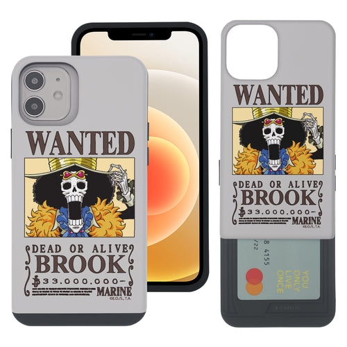 iPhone 12 mini Case (5.4inch) ONE PIECE Slim Slider Card Slot Dual Layer Holder Bumper Cover - Look Brook