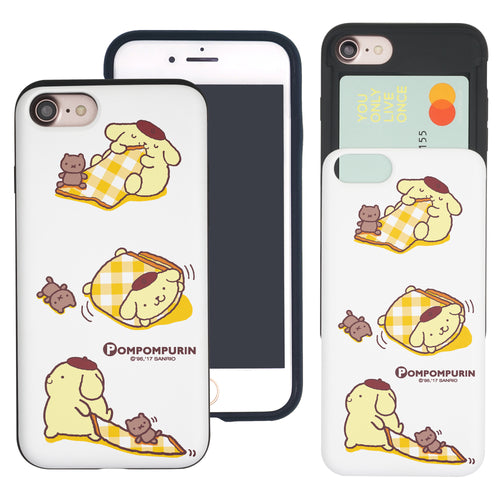 iPhone 6S / iPhone 6 Case (4.7inch) Sanrio Slim Slider Card Slot Dual Layer Holder Bumper Cover - Pompompurin 3