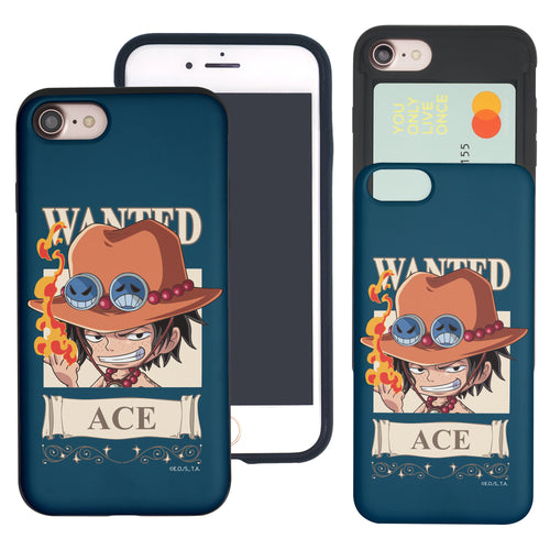 iPhone 6S Plus / iPhone 6 Plus Case ONE PIECE Slim Slider Card Slot Dual Layer Holder Bumper Cover - Mini Ace