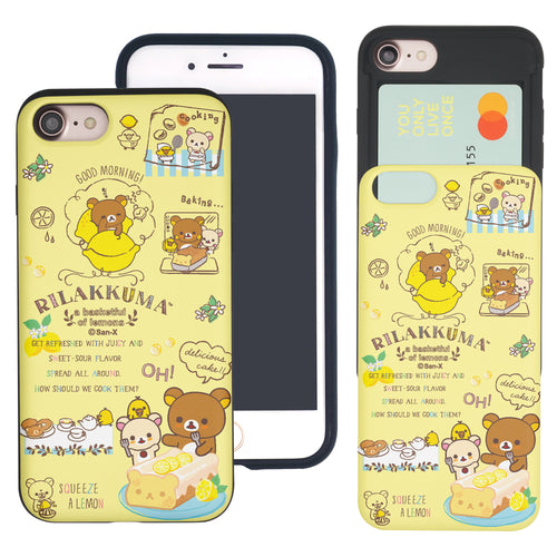 iPhone SE 2020 / iPhone 8 / iPhone 7 Case (4.7inch) Rilakkuma Slim Slider Card Slot Dual Layer Holder Bumper Cover - Rilakkuma Cooking