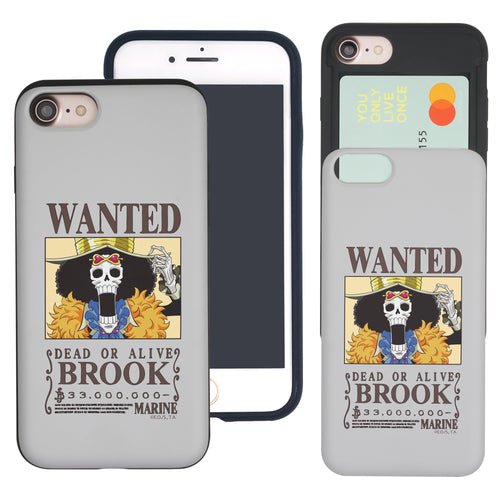 iPhone 6S Plus / iPhone 6 Plus Case ONE PIECE Slim Slider Card Slot Dual Layer Holder Bumper Cover - Look Brook