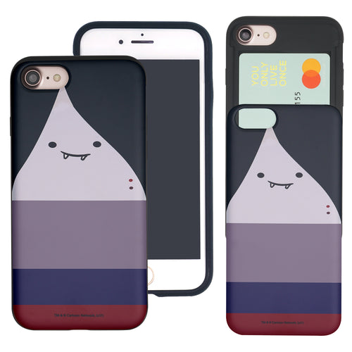 iPhone 8 Plus / iPhone 7 Plus Case Adventure Time Slim Slider Card Slot Dual Layer Holder Bumper Cover - Marceline Abadeer