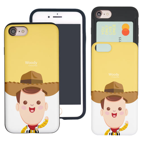 iPhone 8 Plus / iPhone 7 Plus Case Toy Story Slim Slider Card Slot Dual Layer Holder Bumper Cover - Baby Woody