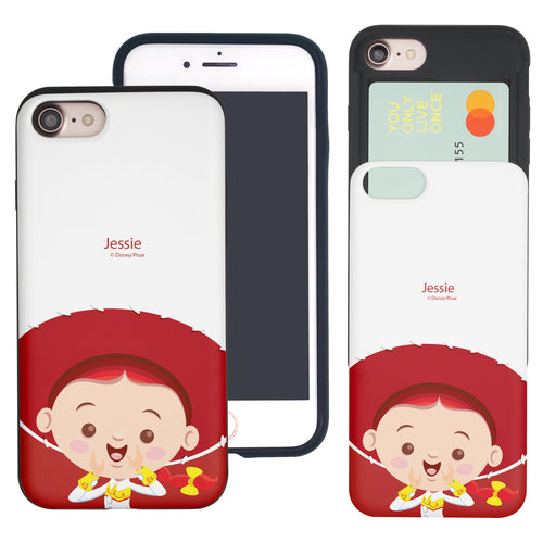 iPhone 8 Plus / iPhone 7 Plus Case Toy Story Slim Slider Card Slot Dual Layer Holder Bumper Cover - Baby Jessie