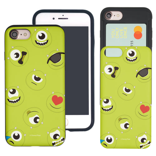 iPhone 8 Plus / iPhone 7 Plus Case Monsters University inc Slim Slider Card Slot Dual Layer Holder Bumper Cover - Pattern Mike