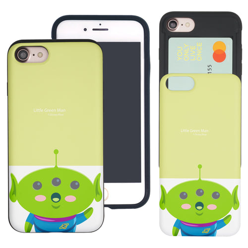 iPhone 8 Plus / iPhone 7 Plus Case Toy Story Slim Slider Card Slot Dual Layer Holder Bumper Cover - Baby Alien
