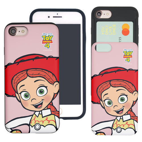 iPhone 8 Plus / iPhone 7 Plus Case Toy Story Slim Slider Card Slot Dual Layer Holder Bumper Cover - Wide Jessie