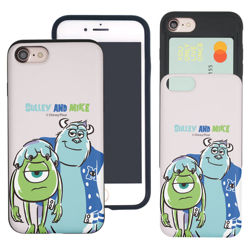 iPhone 8 Plus / iPhone 7 Plus Case Monsters University inc Slim Slider Card Slot Dual Layer Holder Bumper Cover - Cartoon University