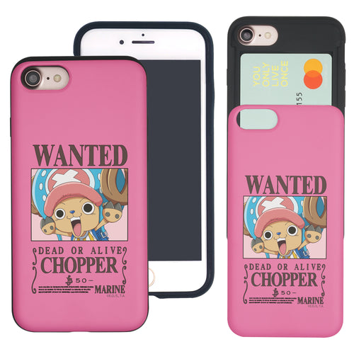 iPhone 6S Plus / iPhone 6 Plus Case ONE PIECE Slim Slider Card Slot Dual Layer Holder Bumper Cover - Look Chopper