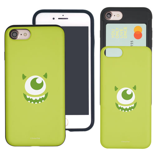 iPhone 8 Plus / iPhone 7 Plus Case Monsters University inc Slim Slider Card Slot Dual Layer Holder Bumper Cover - Face Mike