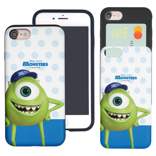 iPhone 8 Plus / iPhone 7 Plus Case Monsters University inc Slim Slider Card Slot Dual Layer Holder Bumper Cover - Movie Mike