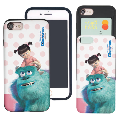 iPhone 8 Plus / iPhone 7 Plus Case Monsters University inc Slim Slider Card Slot Dual Layer Holder Bumper Cover - Movie Boo
