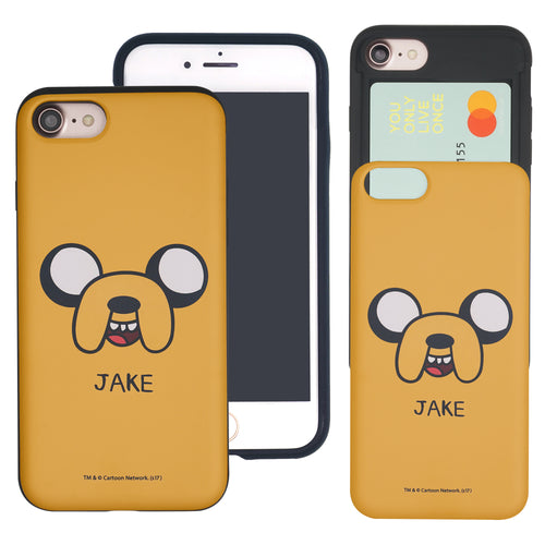 iPhone 8 Plus / iPhone 7 Plus Case Adventure Time Slim Slider Card Slot Dual Layer Holder Bumper Cover - Jake