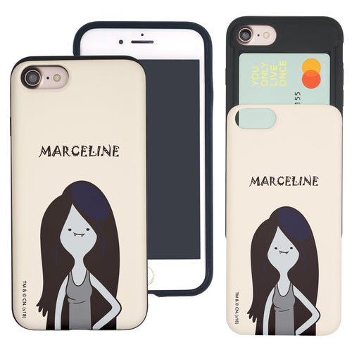iPhone 8 Plus / iPhone 7 Plus Case Adventure Time Slim Slider Card Slot Dual Layer Holder Bumper Cover - Lovely Marceline