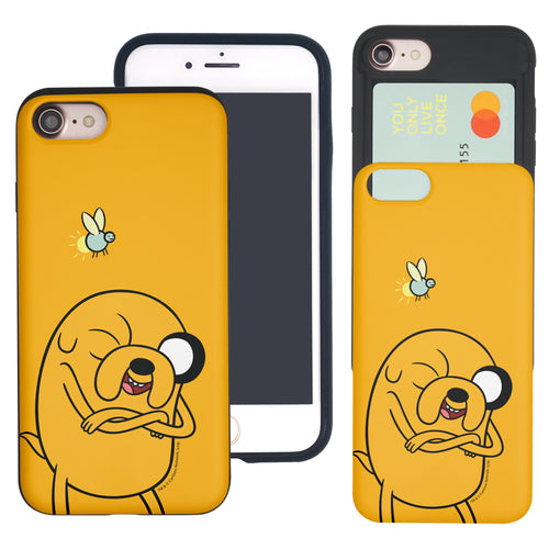iPhone 8 Plus / iPhone 7 Plus Case Adventure Time Slim Slider Card Slot Dual Layer Holder Bumper Cover - Vivid Jake