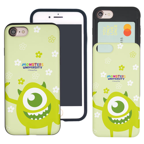 iPhone 8 Plus / iPhone 7 Plus Case Monsters University inc Slim Slider Card Slot Dual Layer Holder Bumper Cover - Full Mike